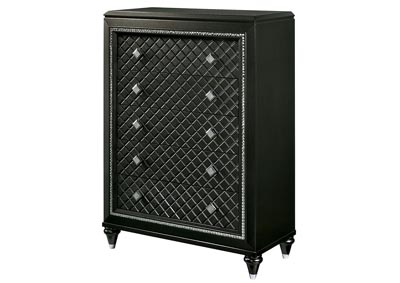Demetria Black/Metallic Gray Chest