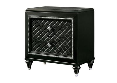 Demetria Black/Metallic Gray Nightstand