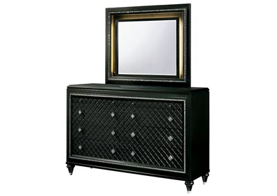Demetria Black/Metallic Gray Dresser w/Mirror