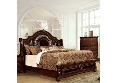 Flandreau Brown Cherry California King Platform Bed