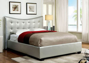 Lavina Silver Queen Platform Bed
