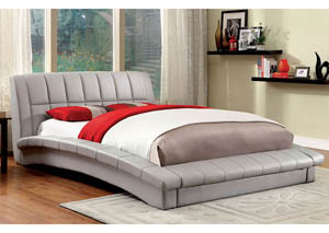 Vizela Grey Eastern King Arched Platform Bed