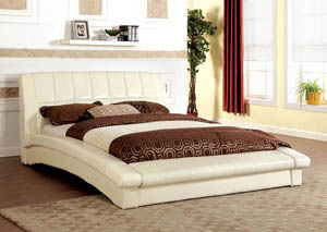 Vizela Ivory Full Arched Platform Bed