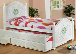 Isabella White Twin Captain Bed