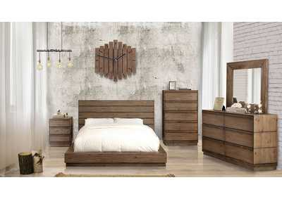 Coimbra Rustic Natural Tone Eastern King Platform Bed