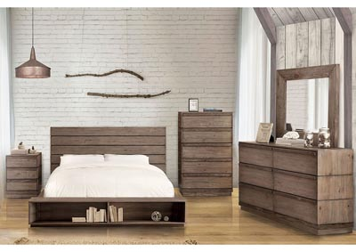 Coimbra Rustic Low Profile California King Bed