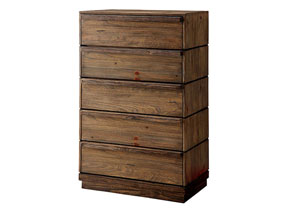 Coimbra Rustic Natural Tone Drawer Chest