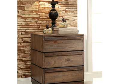 Coimbra Rustic Natural Tone Nightstand