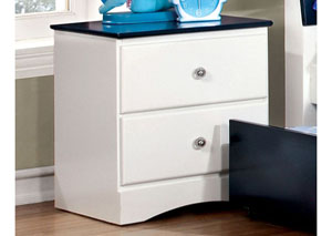 Image for Kimmel Blue & White Nightstand