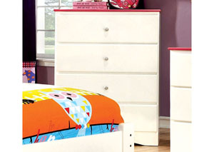 Kimmel Pink & White Drawer Chest
