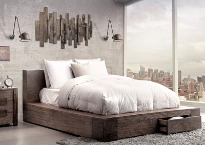 Image for Janeiro Rustic Natural Tone California King Platform/Storage Bed