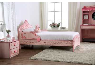 Image for Julianna Pink Princess Bed