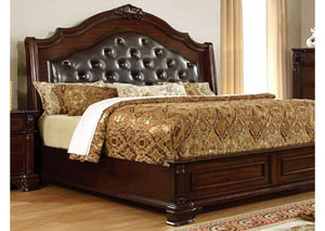 Edinburgh Brown Cherry Queen Platform Bed