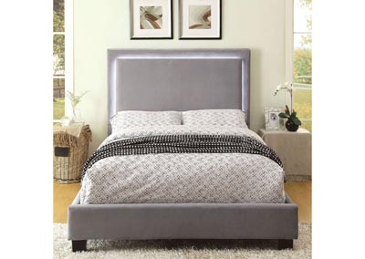 Erglow I Gray Flannelette California King Platform Bed