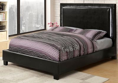 Erglow II Espresso Upholstered King Bed