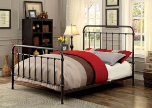 Iria Dark Bronze Queen Platform Bed