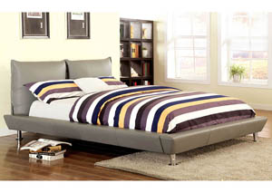 Palto Grey Queen Platform Bed