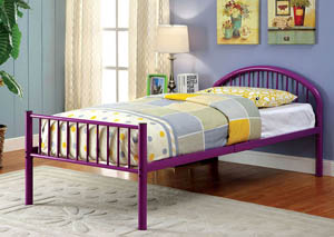 Rainbow Purple Low Headboard Full Metal Platform Bed