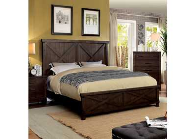 Bianca Dark Walnut California King Panel Bed