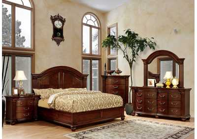 Image for Grandom Cherry California King Platform Bed w/Dresser and Mirror