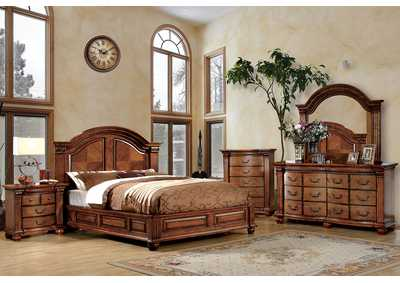 Bellagrand Queen Panel Bed w/Dresser, Mirror, Drawer Chest, and Nightstand