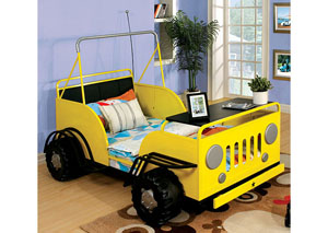 Trekker ll Yellow Rover Design Twin Bed w/Safety Rails