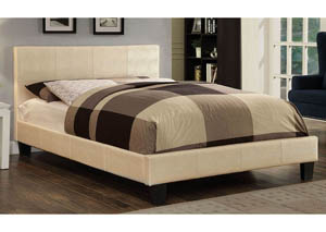 Wallen White Upholstered Queen Bed