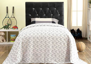 Galen Black Leatherette Crocodile Skin Twin Headboard