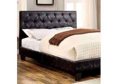 Kodell Black Upholstered Queen Bed