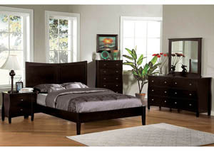 Milano Espresso Eastern King Platform Bed