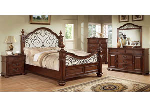 Landaluce California King Poster Bed w/Dresser and Mirror