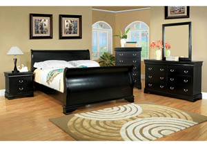 Laurelle Black Twin Sleigh Bed