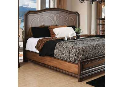 Emmaline Warm Chestnut Full Platform Bed