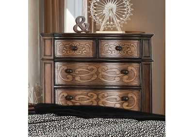 Emmaline Warm Chestnut Drawer Chest