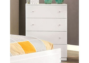 Lizbeth White Drawer Chest