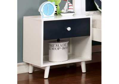 Alivia Blue/White Nightstand