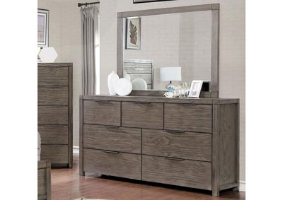 Asterope Gray Dresser & Mirror