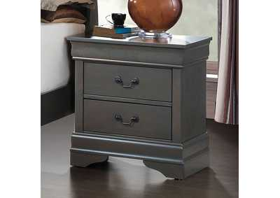 Louis Philippe III Gray Nightstand,Furniture of America