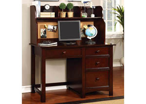 Omnus Cherry Desk w/Hutch