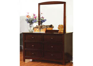 Omnus Dark Walnut Dresser w/ Mirror