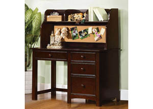 Omnus Dark Walnut Desk w/Hutch