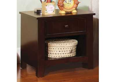 Omnus Dark Walnut Nightstand