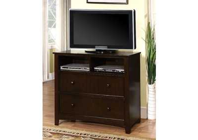 Image for Corry Dark Walnut Media Chest