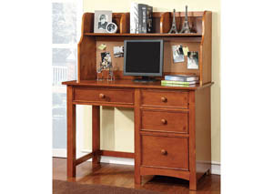 Omnus Oak Desk w/Hutch