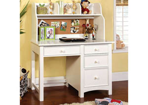 Omnus White Desk w/Hutch