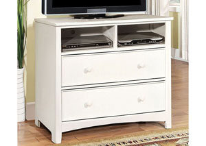 Omnus White Media Chest