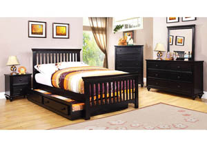 Caspian Black Twin Bed
