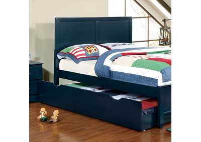 Image for Prismo Blue Full Platform Trundle Bed w/Dresser and Mirror