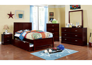 Prismo Cherry Twin Platform Bed