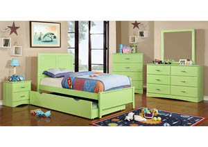 Prismo Green Twin Platform Bed